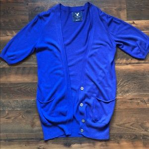 American Eagle Royal Blue Oversized Cardigan